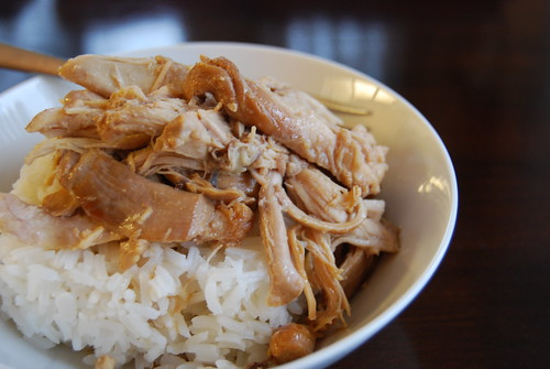 Chicken adobo and rice