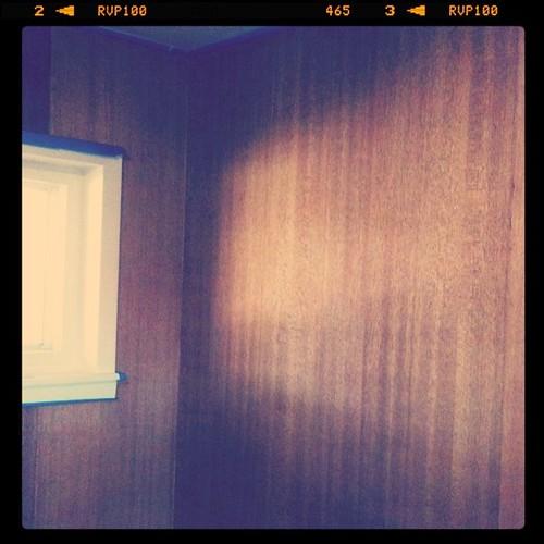 The mahogany paneling that I'm restoring
