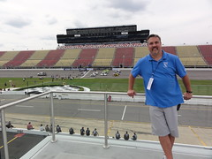 Overlooking the Track at Michigan International Speedway