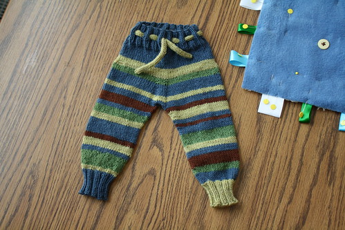 striped baby pants!