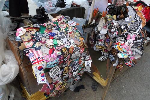 Street bazaar in Busan Korea