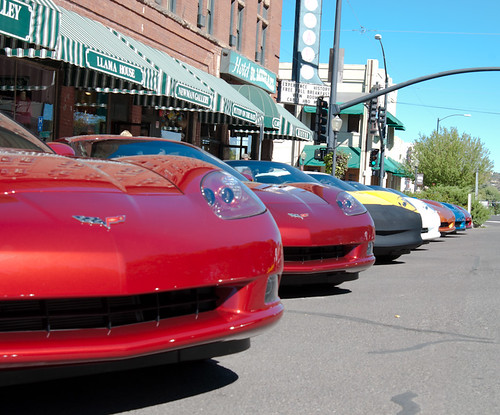 Corvettes in a Row, on Whiskey Row