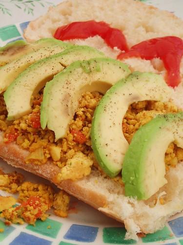 Tofu Scramble + avocado + ciabatta