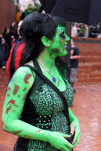 Green Zombie Girl