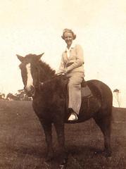 Grandma riding, Goodnight Island 1937
