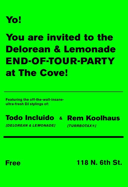 Rem Koolhaus @ Delorean / Lemonade End of Tour Party