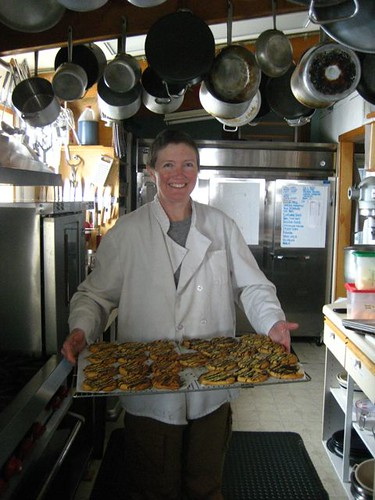 Tina White, cook at Summit Camp, with some of her amazing cookies