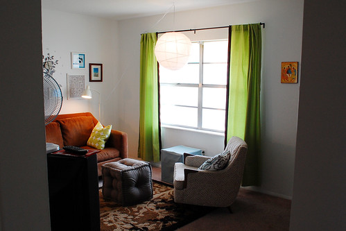 New living room arrangement.