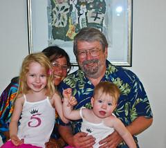 Grandchildren with their Grandparents