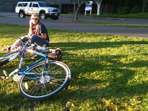 Burke-Gilman grass relaxation