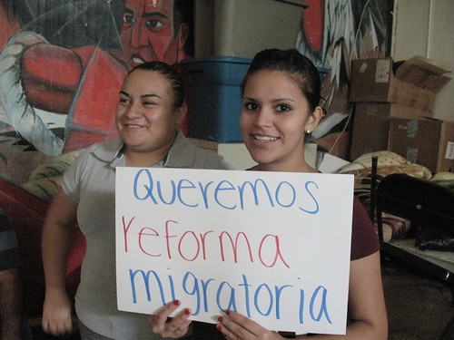 """We want immigration reform!"""