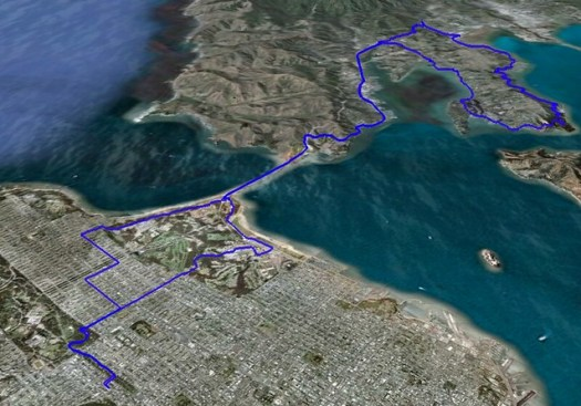 Paradise Loop Bike Ride - GPS Route