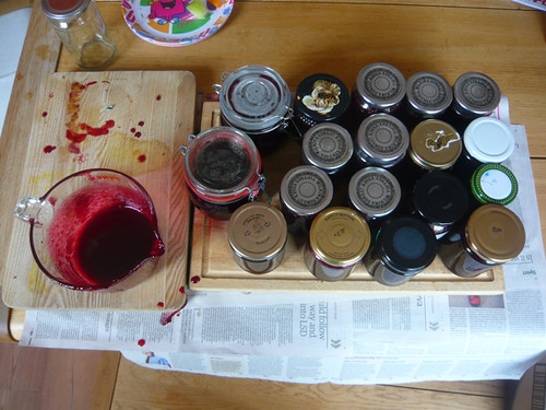 Damson Jam making