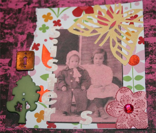 """Sisters 4"""" x 4"""" Collage"""