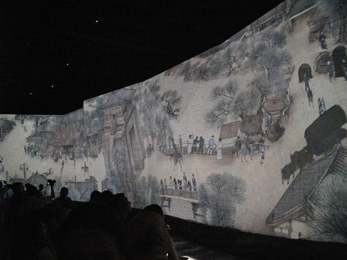 """Along the River during the Qingming Festival"" projection, by Itamar Medeiros"