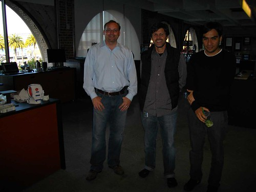 Visit to Autodesk Gallery @ Market One: Richard Howard, José Madeira Garcia and Carlos Olguin