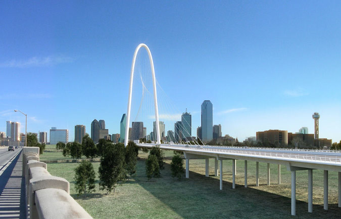 Margaret Hunt Hill Bridge rendering (Courtesy Santiago Calatrava)