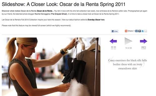 Styled On: Oscar de la Renta Studio