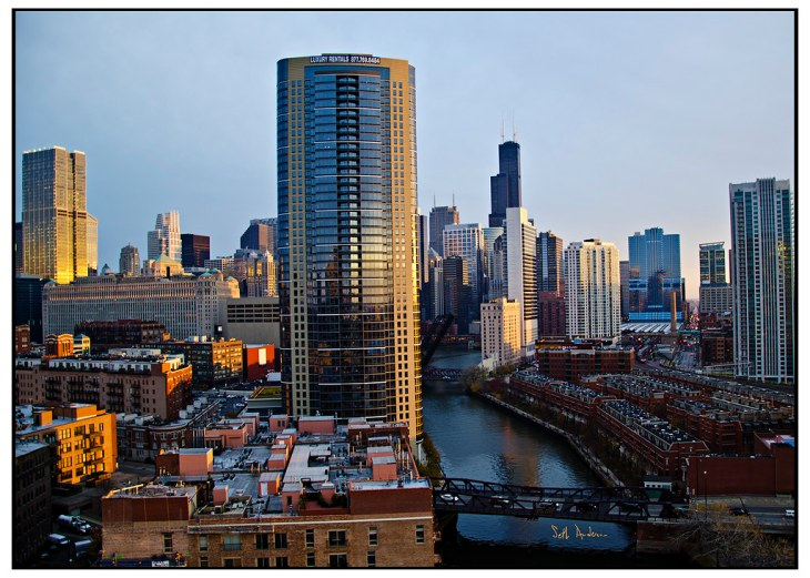 Dusk in River North