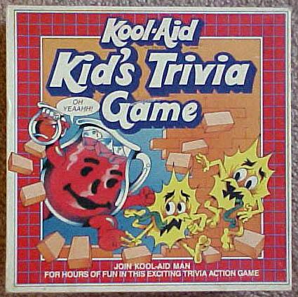 Kool Aid Kid's Trivia Game