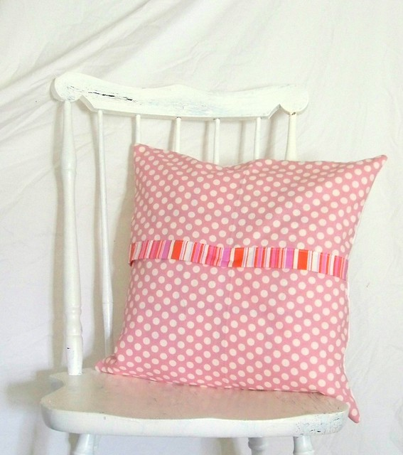 polka dots and stripes envelope pillow back