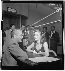[Portrait of Tommy Dorsey, Beryl Davis, Georgie Auld, Ray McKinley, Johnny Desmond, Vic Damone, Mel Tormé, Mary Lou Williams, and Josh White, WMCA, New York, N.Y., ca. Oct. 1947] (LOC)