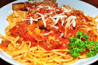 Mmm...spaghetti with a meat sauce