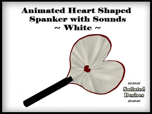 Heart Shaped Spanker - White