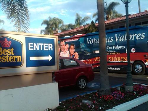 The Santa Barbara meeting spot on the Vota Tus Valores tour
