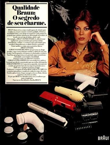 80's ad - 1981 Braun hair dryers