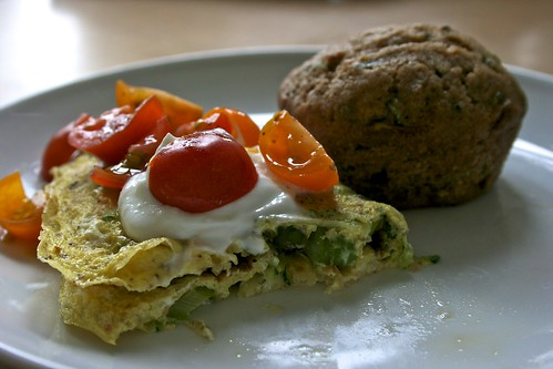 Asparagus & Zucchini Omelette