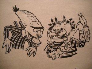 Burt-Alien & Ernie-Predator