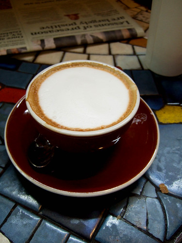 A beautiful cappuccino