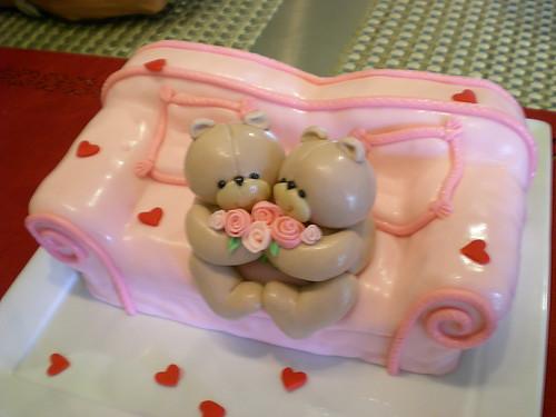 Leo's wedding 3 - bears-in-love cake