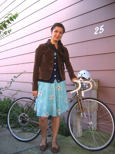 Fall bike ride to work