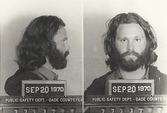 Jim Morrison's Mugshot - Florida 1970