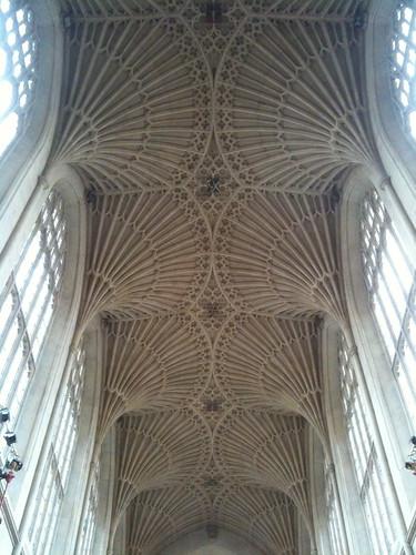 Ornate Ceiling of Bath Abbey