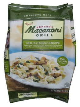 Romano's Macaroni Grill Grilled Chicken Florentine Complete Frozen Meal