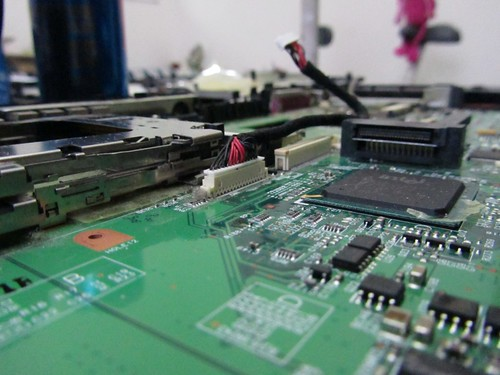 Acer Travelmate - Close up on motherboard