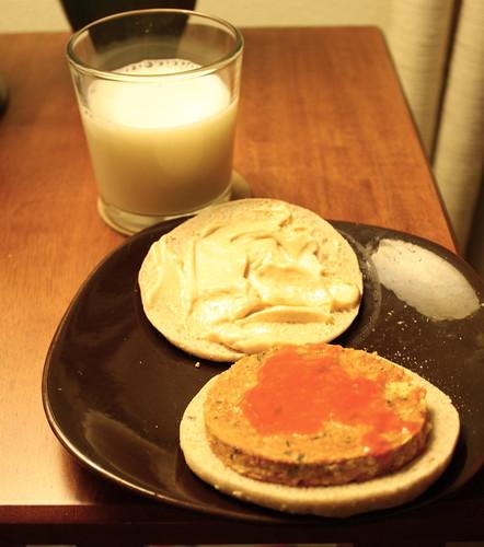 milk, Boca bruschetta veggie burger