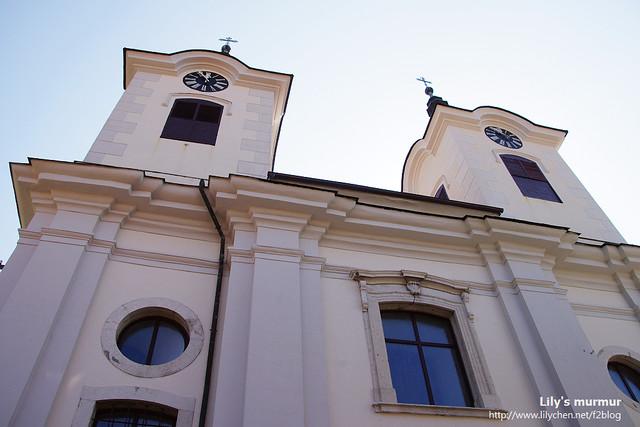 Postojna小鎮上的教堂。