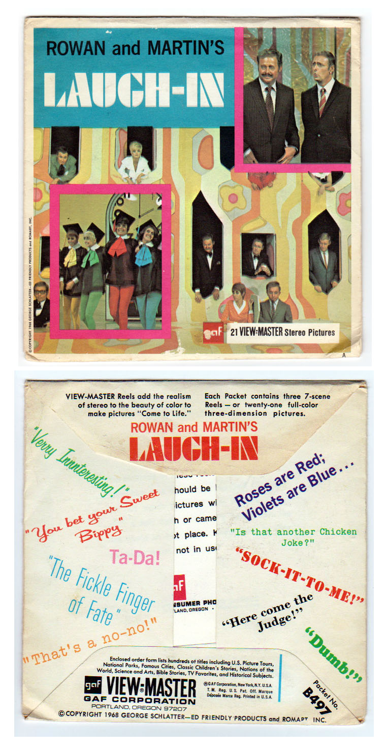 Rowan & Martin's Laugh-In Viewmaster envelope (B497 1968)