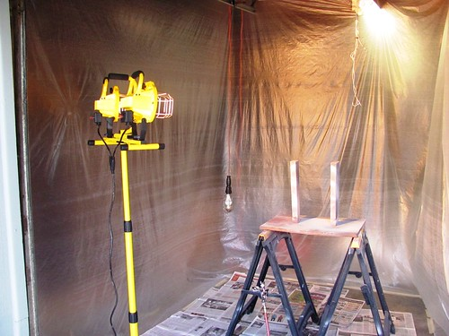 Paint Booth - 1000w Halogen Lighting