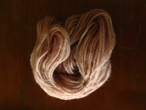 lichen dyed yarn