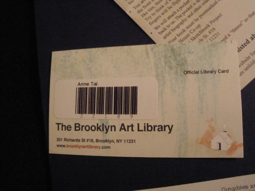 The Sketchbook Project - library card