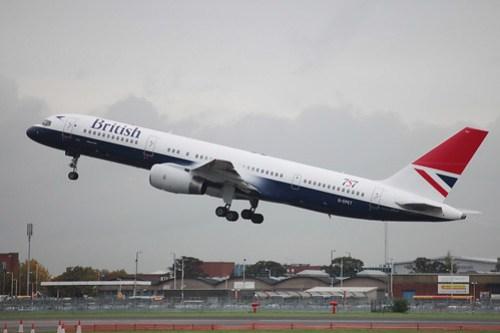 British Airways 757 Retro Takeoff