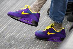 Douglas Crockford's purple shoes