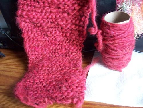Handspun yarn Thick n thin