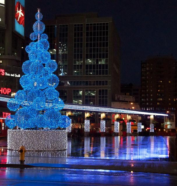 Dundas Square at 7 am, December 1st
