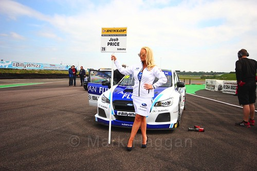 Josh Price on the grid at the Thruxton BTCC weekend, May 2017